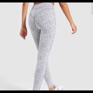 Gymshark Charcoal Gray Fleur Texture Leggings